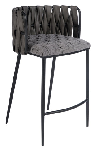 1538CS-GRY-Milano Counter Chair in Gray