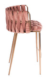 1538CS-ROSE-Milano Counter Chair in Rose