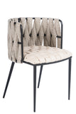 1538DC-BGE-Milano Dining Chair in Off White