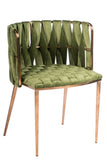 1538DC-GREEN-Milano Dining Chair in Green