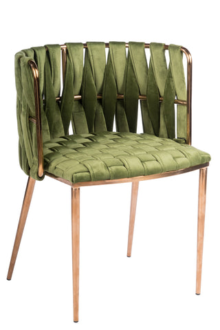 1538DC-GREEN-Milano Dining Chair in Green-PRE-ORDER