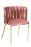 1538DC-ROSE-Milano Dining Chair in Rose