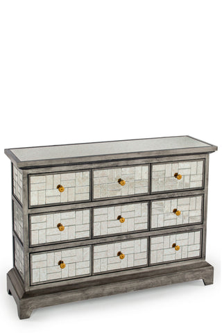 15SH034-Mc Kenzie Mirrored Console Chest