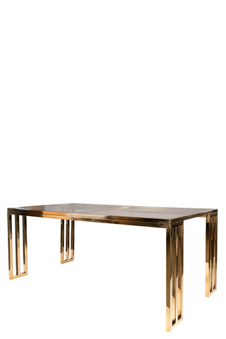 19396-Lorenzo Gold Rectangular Dining Table-PRE-ORDER