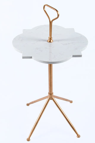 A60510-Handle Marble Side Table