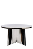 A69S-Waterfall Marble Top Dining Table
