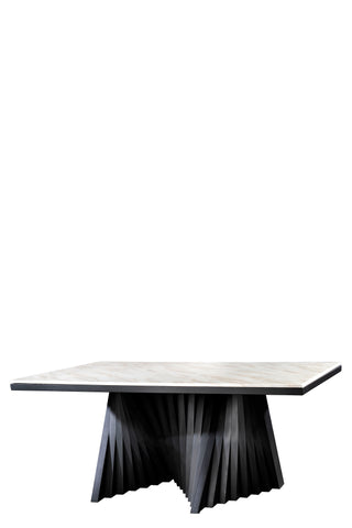 A70BLK-Waterfall Rectangular Marble Top Dining Table