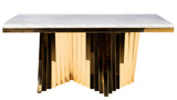 PRE-ORDER-A70G-Waterfall Rectangular Marble Top Dining Table