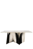 PRE-ORDER-A70S-Waterfall Rectangular Marble Top Dining Table