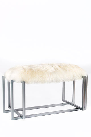 AE658SFUR-Logan Sheepskin Bench