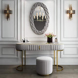 B-001-Carolina  Console Table Set-No Marble TOP