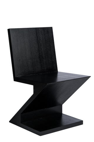 BD703-Zig Zag Chair in Ash Black