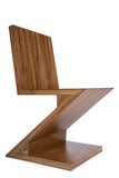 PRE-ORDER-BD703a-Zig Zag Chair in Brown