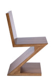 BD703a-Zig Zag Chair in Brown