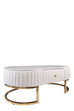 C-052-Caroline Marble Top Oval Coffee Table
