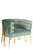 C2018-39-Alexa Gold Barrel Chair-PRE-ORDER