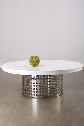 CT1-WHT002-Laguna Coffee  Table
