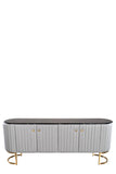 D005-Caroline Marble Top Oval Sideboard in Gray