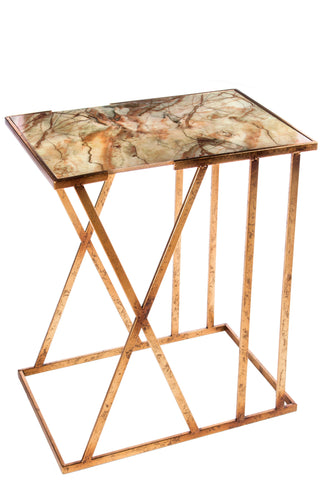 FB-1000-Karla Side Table with Faux Marble Top
