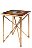 FB-1008-RED-Rouge Agate Side Table