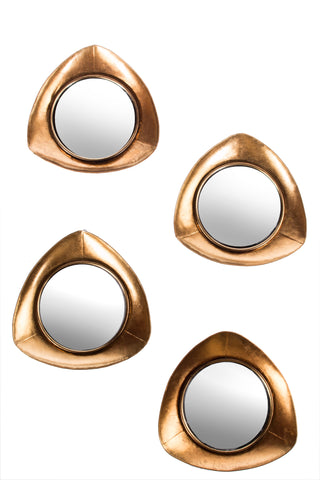 FB-1009-G4-Set/4 Becky Large Gold Mirrors