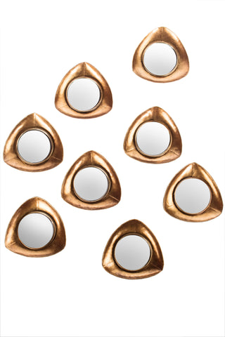 FB-1010-G8-Set/8 Becky Small Gold Mirrors