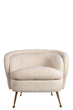 FOS383WHTPalermo Accent Chair in Boucle White