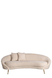FOS440-3-Ipanema Curved Sofa in White Boucle