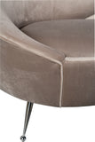FOS442-3-Wing Curved Sofa in Gray