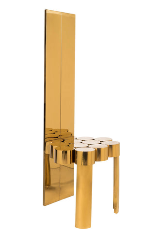 PRE-ORDER-C2018-12-Paloma Gold Accent Chair