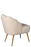 GH01-007-Kayla Boucle  Side Chair In White