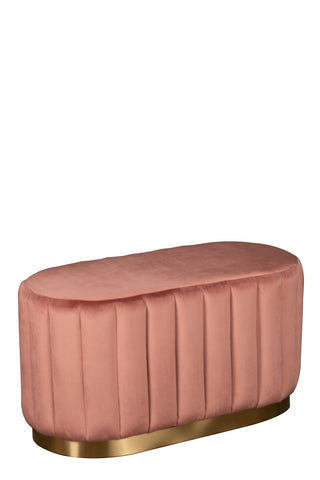 GH01-027PNK-Margot Oval Ottoman in Rose
