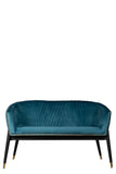 GH01-030-Lucy Studded Settee in Teal