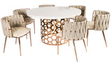 "SB-WHT002ROSE-Laguna 54"" Dining Table"