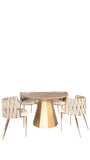 KFH10568-Lucia Wood Dining Table-Elm
