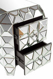 HJB16236-Spike Mirrored Nighstand