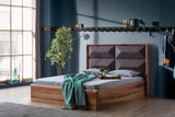 AN03CK-Mario Upholstered Wood Bed California King