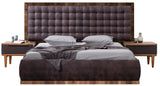 PB01QW-Cleo Grande Tufted Wood Bed
