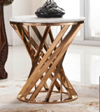 J-072-Iris Marble Top Side Table