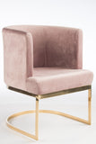 J-101P-Hazel Gold Chrome Chair