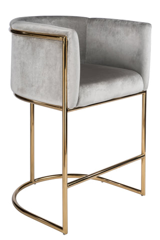 "PRE-ORDER-J-102G-Mira Gold 26"" Counter Chair"