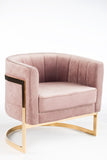 J-110P-Mica Gold Club Chair-Mauve