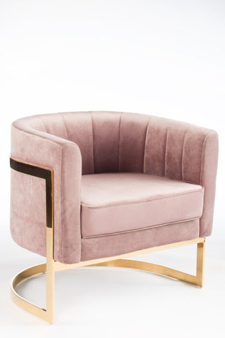 PRE ORDER -J-110P-Mica Gold Club Chair