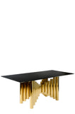 J-119T-Kanika Rectangular Gold Dining Table