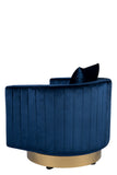 J-120B-Irina Swivel Barrel Chair in Blue