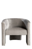 J130-CL-GRY-Leblon Barrel Chair in Gray