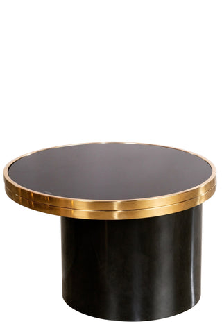 J-203A-London Extendable Coffee Table in Black and Gold