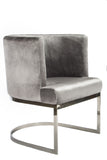 J-101SIL-Hazel Silver Dining Chair