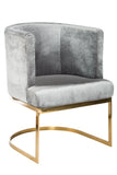 J-101-Hazel Gold Chrome Chair