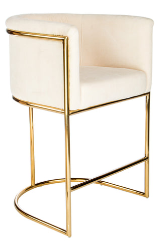 "PRE-ORDER-J-102C-Mira Gold 26"" Counter Chair"